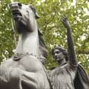 Boadicea-Statue, Königin der Iceni, von Thomas Thornycroft, Westminster Bridge, London. Photo: Graham Turner